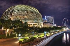 Teatro de la explanada de Singapur imagenes de archivo