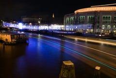 Teatro de la música en el festival de la luz de Amsterdam Imagen de archivo