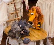 Teatro de la marioneta Fotos de archivo