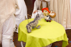 Teatro de la marioneta Foto de archivo libre de regalías