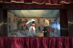 Teatro de la marioneta Imágenes de archivo libres de regalías