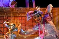 Teatro de la marioneta de Mandalay Imagen de archivo libre de regalías