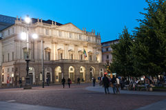 Teatro de La Scala en Milano Imagenes de archivo