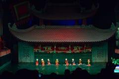 Teatro de las marionetas foto de archivo