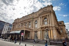 Teatro de los dos puntos en Buenos Aires fotos de archivo