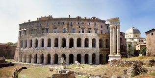 Teatro de Marcelo Roma Fotos de Stock Royalty Free