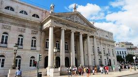 Teatro de Maria II Fotografia de Stock Royalty Free