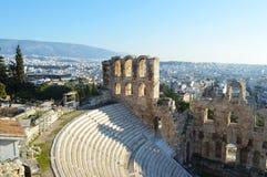 Teatro de Odeon en Atenas, Grecia Fotografía de archivo
