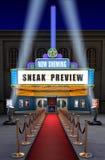 Teatro de película y rectángulo del boleto Imagenes de archivo