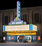 Teatro de película y rectángulo del boleto Fotos de archivo