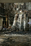 Teatro de Sião queimado. quadrado de Sião. Imagem de Stock