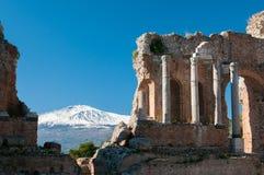 Teatro de Taormina Fotografía de archivo libre de regalías