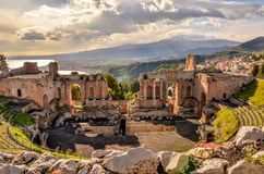 Teatro de Taormina Imagem de Stock Royalty Free