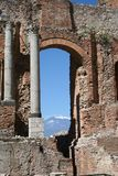 Teatro de Taormina, Italia Fotografía de archivo libre de regalías