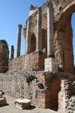 Teatro de Taormina, Italia Imagen de archivo libre de regalías