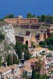 Teatro de Taormina, Sicília, Italy Fotos de Stock Royalty Free