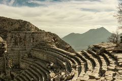 Teatro de Termessos, Turquía Foto de archivo