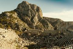 Teatro de Termessos, Turquia Fotos de Stock Royalty Free