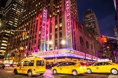 Teatro de variedades la ciudad de la radio de NYC Imagen de archivo