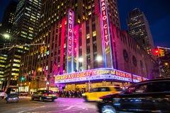 Teatro de variedades la ciudad de la radio de NYC Foto de archivo