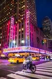 Teatro de variedades la ciudad de la radio de NYC Fotos de archivo libres de regalías