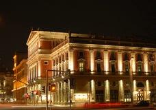 Teatro de variedades Viena en la noche Imagen de archivo