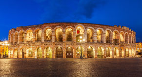 Teatro de Verona de los di de la arena en Italia Fotos de archivo