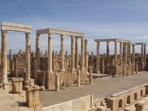 Teatro dei magnum di Leptis immagine stock