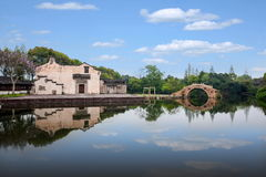 Teatro del agua de Jiaxing Wuzhen Xigaze Fotografía de archivo