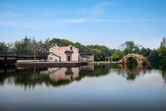 Teatro del agua de Jiaxing Wuzhen Xigaze Imagen de archivo libre de regalías