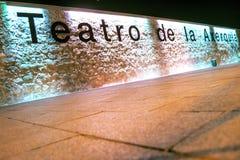 Teatro del AxerquÃa Imagen de archivo libre de regalías