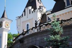 Teatro del burattino nel parco a Kiev Fotografie Stock Libere da Diritti