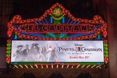 Teatro del EL Capitan Fotografía de archivo libre de regalías