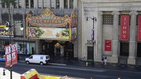 Teatro del EL Capitan di Disney stock footage