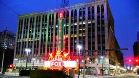Teatro del Fox de Detroit Foto de archivo