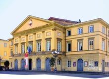 Teatro del Giglio in Luca, Italië stock foto's