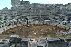 Teatro del gladiatore di Xanthos Fotografia Stock