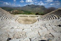 Teatro del greco antico Immagini Stock