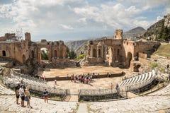 Teatro del greco antico Fotografie Stock Libere da Diritti