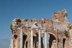 Teatro del greco antico di Taormina, Sicilia, Italia Fotografia Stock