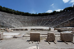 Teatro del griego clásico de Epidauros Foto de archivo libre de regalías
