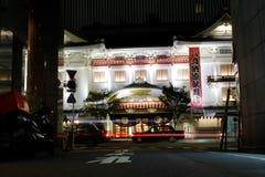 Teatro del kabuki de Ginza Foto de archivo libre de regalías