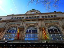 Teatro del Liceu en Barcelona, Cataluña imágenes de archivo libres de regalías