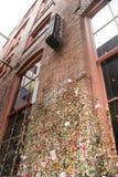 Teatro del mercato in parete Seattle Washington U.S.A. della gomma del vicolo della posta Fotografie Stock