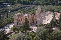 Teatro del odeon de la acrópolis foto de archivo libre de regalías