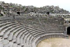 Teatro del oeste de Umm Qais Fotos de archivo libres de regalías