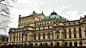 Teatro del owacki del 'de Juliusz SÅ en Cracovia Imagen de archivo libre de regalías