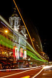Teatro del palazzo di Londra Victoria alla notte fotografia stock