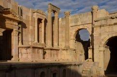Teatro del sud, Jerash Immagini Stock