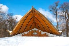 Teatro del verano en invierno foto de archivo libre de regalías